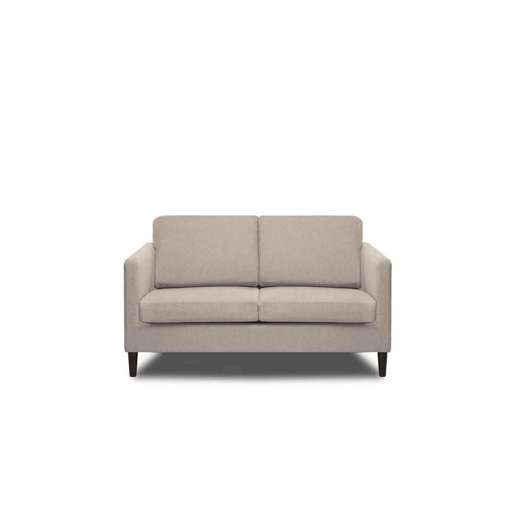 Swell Axis Cotton Flax Loveseat S2G M1 L Yh53 2 The Home Depot Creativecarmelina Interior Chair Design Creativecarmelinacom