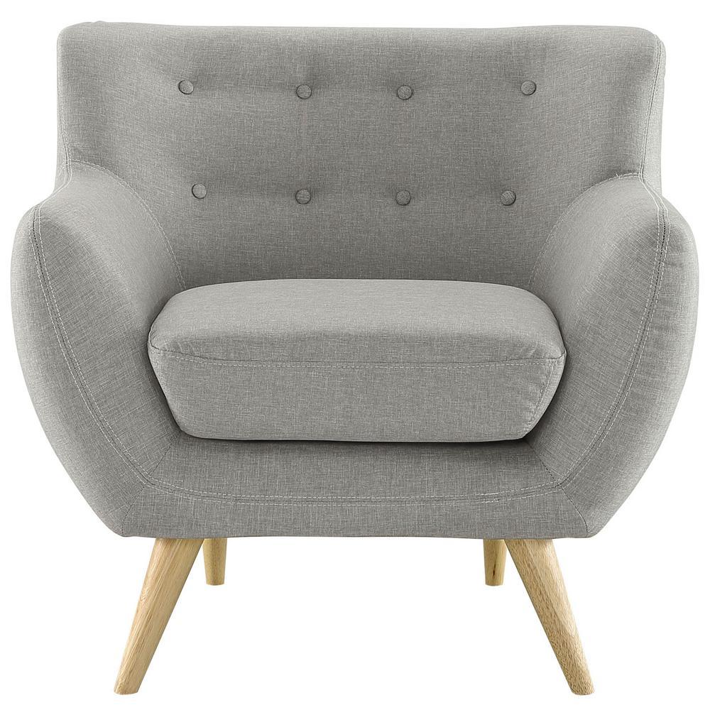 MODWAY Light Gray Remark Upholstered Arm Chair EEI-1631-LGR