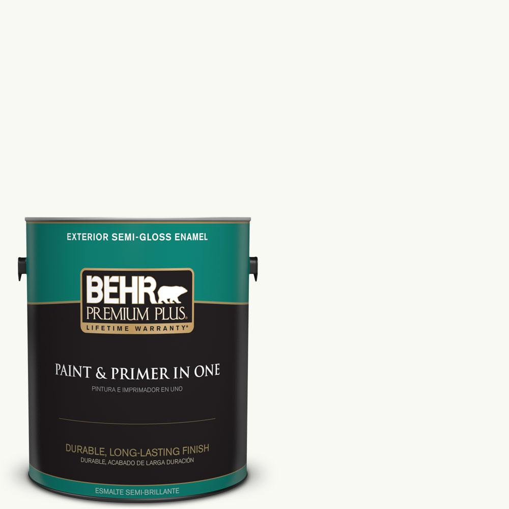 1 gal. #PR-W15 Ultra Pure White Semi-Gloss Enamel Exterior Paint and