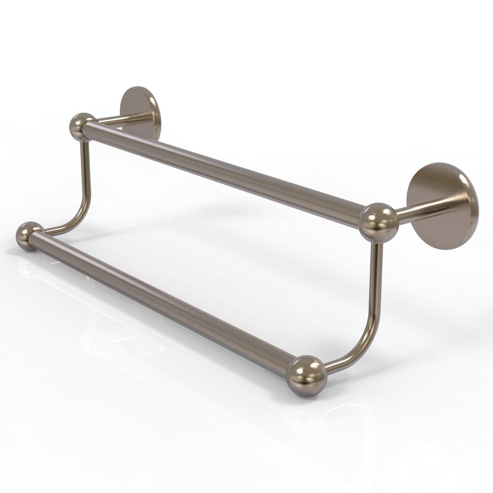 Allied Brass Prestige Skyline Collection 24 in. Double Towel Bar in Antique Pewter