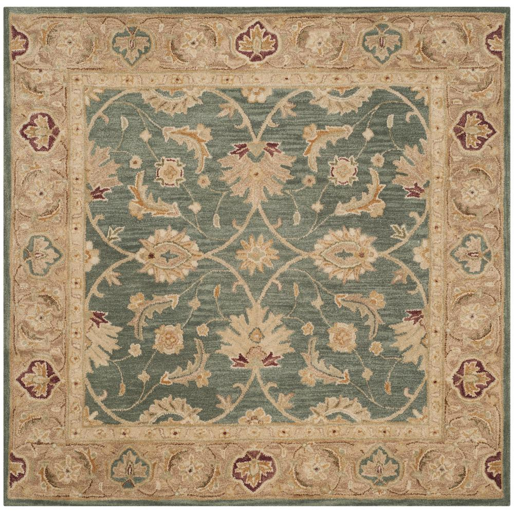 Safavieh Antiquity Teal Blue/Taupe 6 Ft. X 6 Ft. Square
