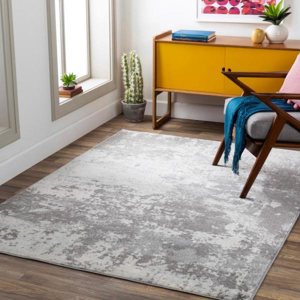 Artistic Weavers Brice Medium Gray 7 Ft 10 In X 10 Ft 3 In Area Rug S00161030186 The Home Depot