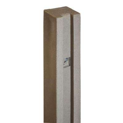 5 in. x 5 in. x 8-1/2 ft. Brown Composite Fence Gate Post
