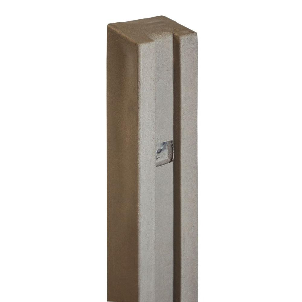 SimTek 5 in. x 5 in. x 8-1/2 ft. Brown Composite Fence Gate Post