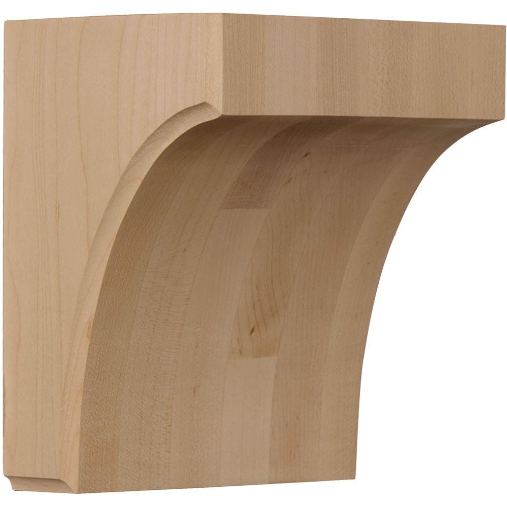 Ekena Millwork 5-1/2 in. x 4 in. x 6 in. Unfinished Rubberwood Clarksville Corbel