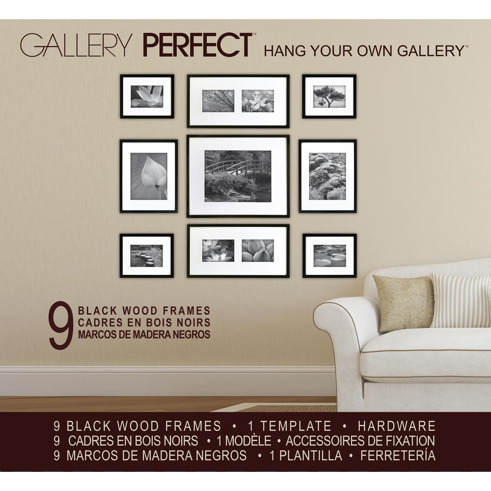 Pinnacle 9-Opening 8 in. x 10 in. Matted Picture Frame-14FW1019 ...