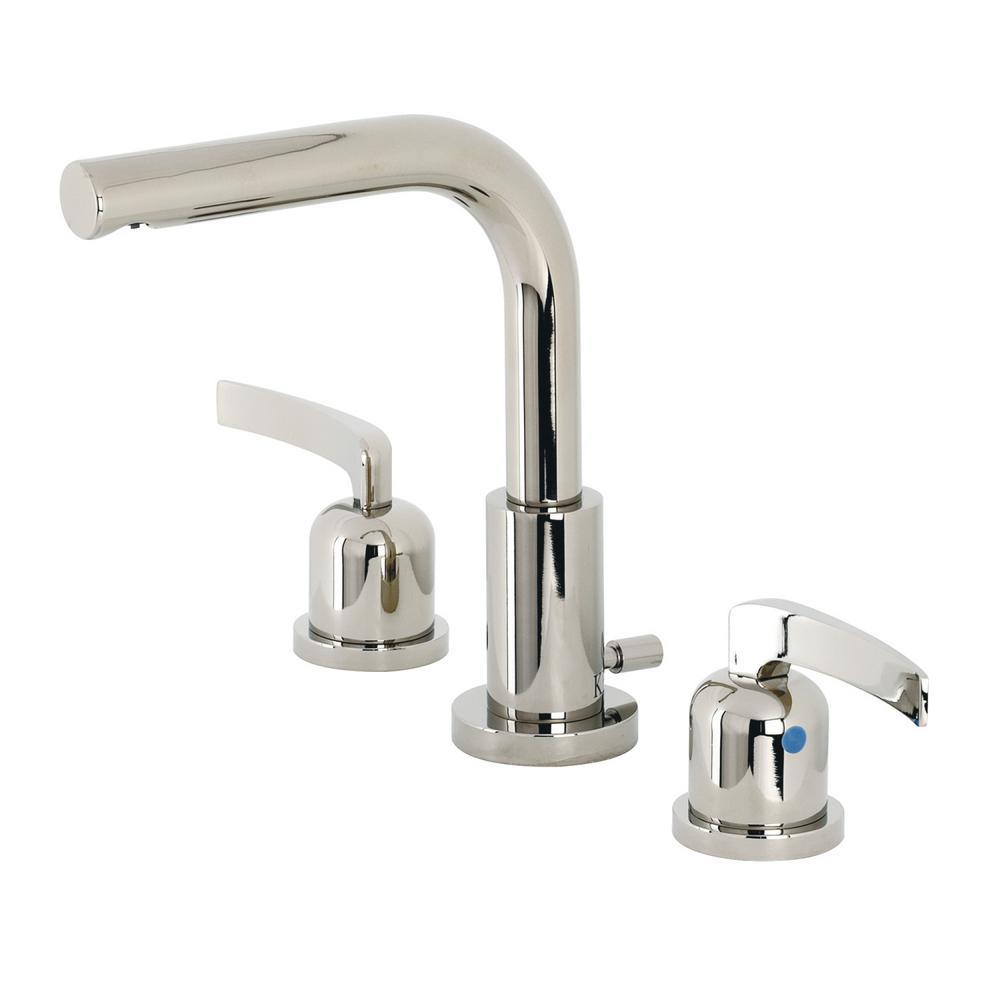 Centurion 8 in. Widespread 2-Handle Bathroom Faucet in Polished Nickel