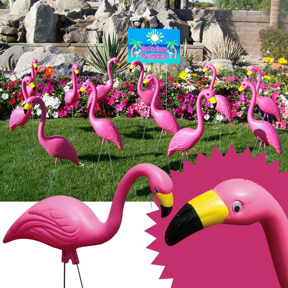 Allied Precision Pink Flamingo Statue (10-Pack)