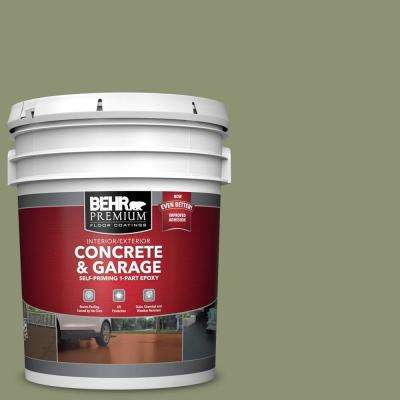 5 gal. #PFC-39 Moss Covered Self-Priming 1-Part Epoxy Satin Interior/Exterior Concrete and Garage Floor Paint