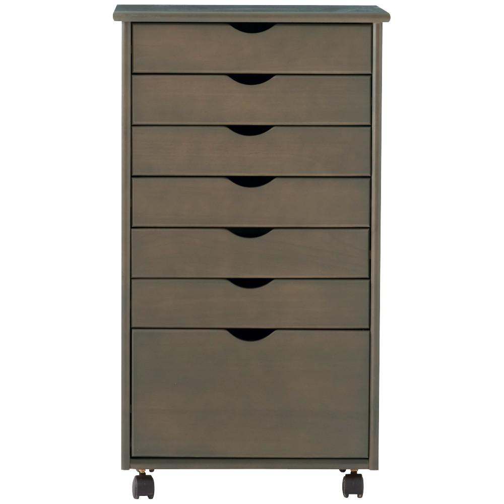 Incroyable Home Decorators Collection Stanton Wide 7 Drawer Storage Cart In  Walnut 0200510960   The Home Depot