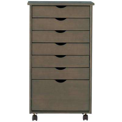 Stanton 7-Drawer Storage Cart in Antique Grey