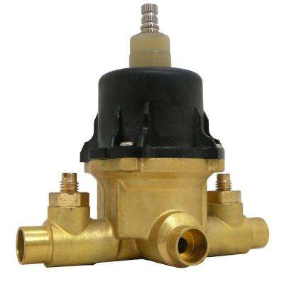 1/2 in. x 1/2 in. Brass Sweat Thermostatic Pressure Balance Shower Valve