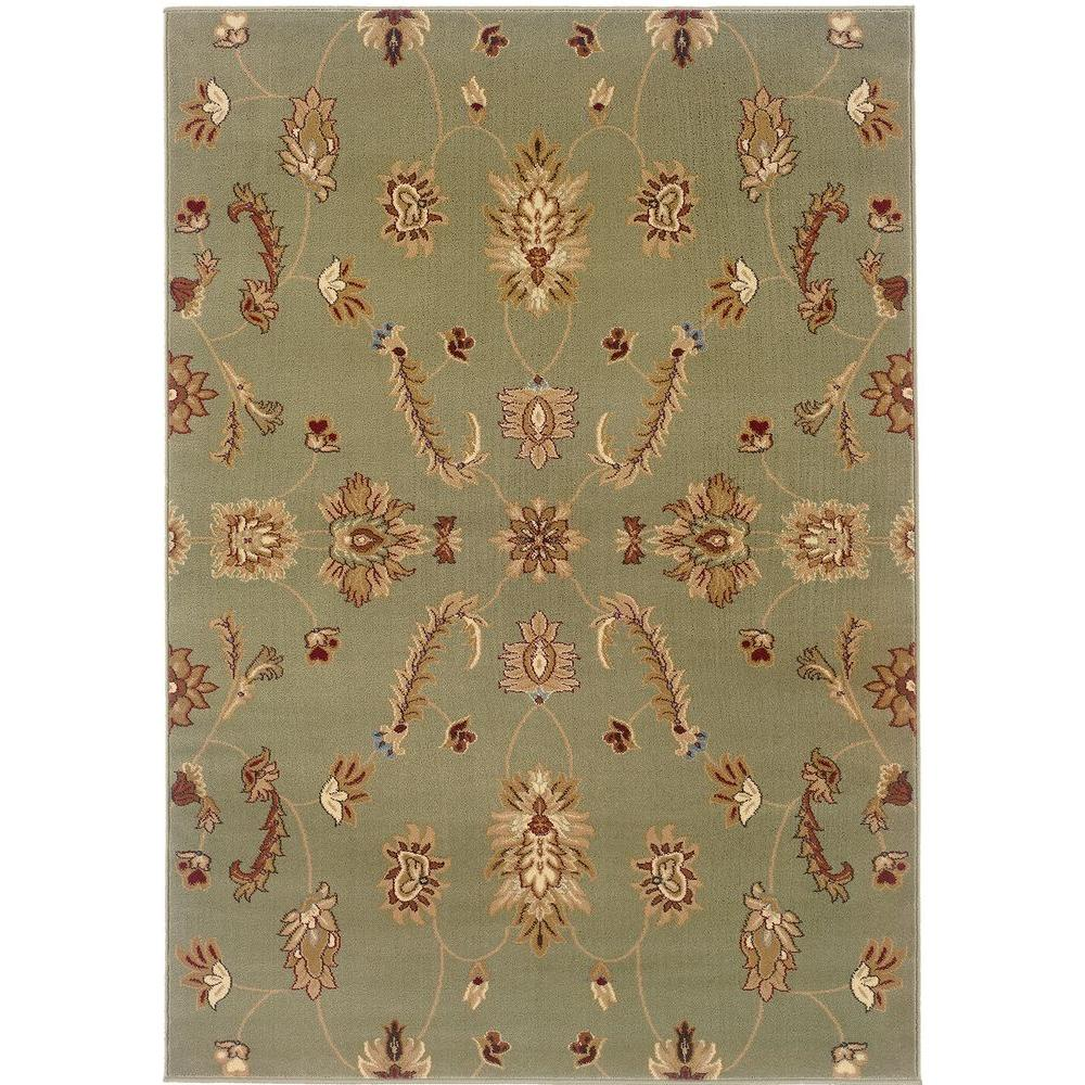 LR Resources Transitional Green Rug Runner 1 ft. 10 in. x 7 ft. 1 in. Plush Indoor Area Rug