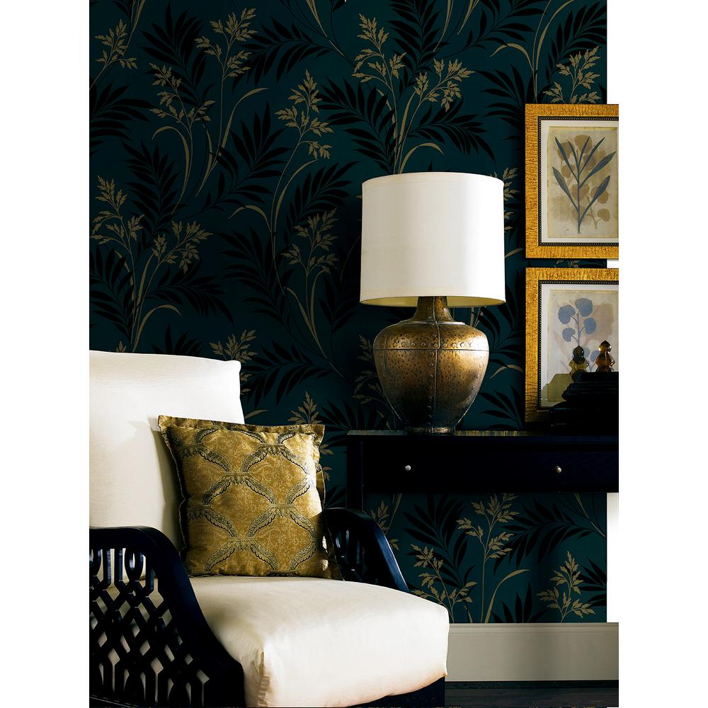 brewster midori black bamboo silhouette wallpaper the home depot