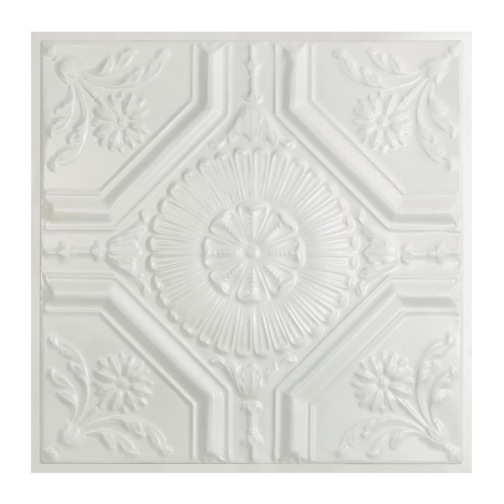 Matte White Drop Ceiling Tiles Ceiling Tiles The Home Depot