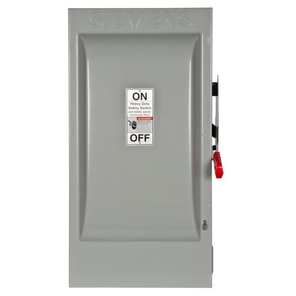 Heavy Duty 200 Amp 600-Volt 3-Pole Indoor Fusible Safety Switch