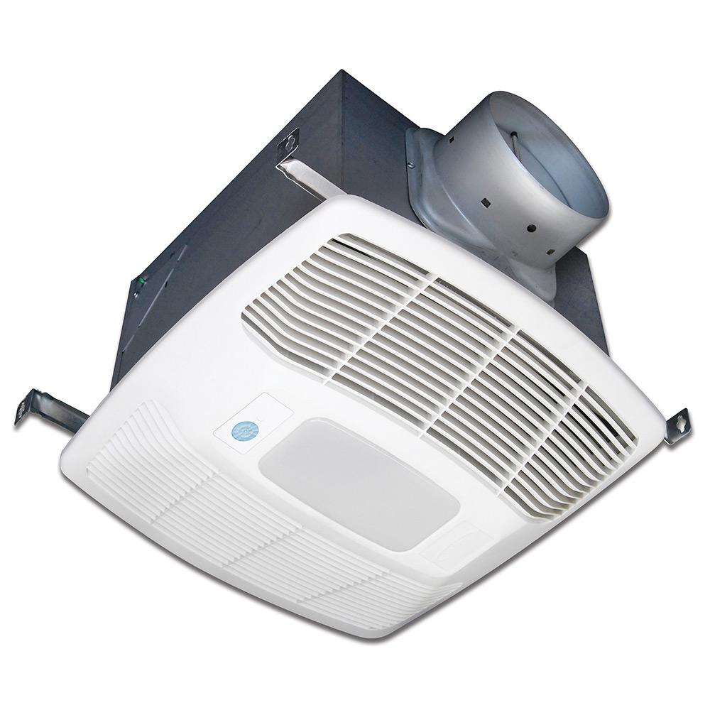 White 120 CFM Single Speed, Motion and Humidity Sensing 0.3 Sone