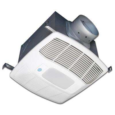White 120 CFM Single Speed, Motion and Humidity Sensing 0.3 Sone Ceiling Exhaust Bath Fan with LED Light, ENERGY STAR*