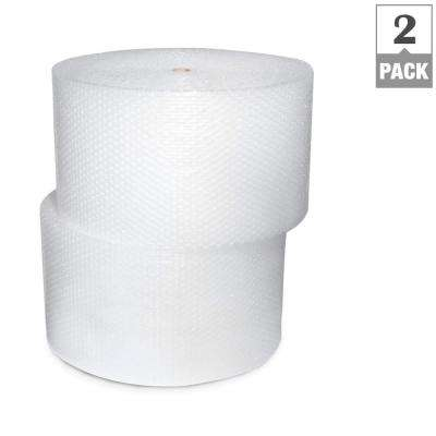 1/2 in. x 24 in. x 250 ft. Perforated Bubble Cushion Wrap (2-Pack)