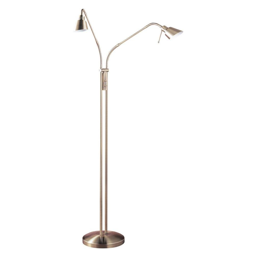 Cassiopeia 4.5 in. Antique Brass Incandescent Floor Lamp