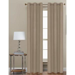Cathay Home 84 inch L Polyester Form Blackout Grommet Curtain Panel in Taupe... by Cathay Home