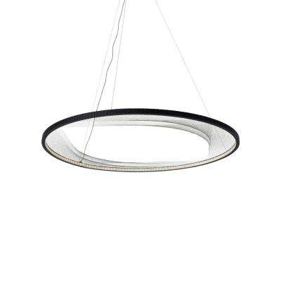 Interlace 45 in. Rubberized Black LED Chandelier Shade