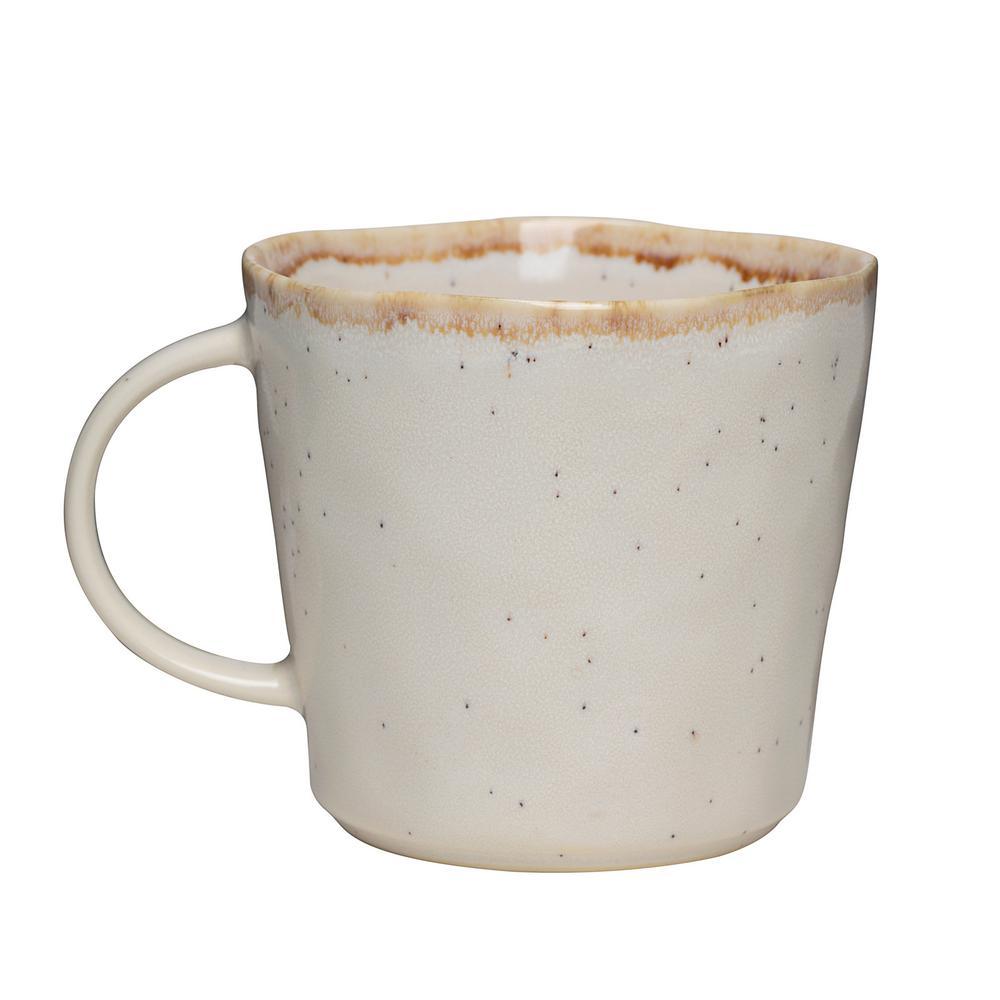 Primitive Moonstone 18 oz. Beige Ceramic Coffee Mug