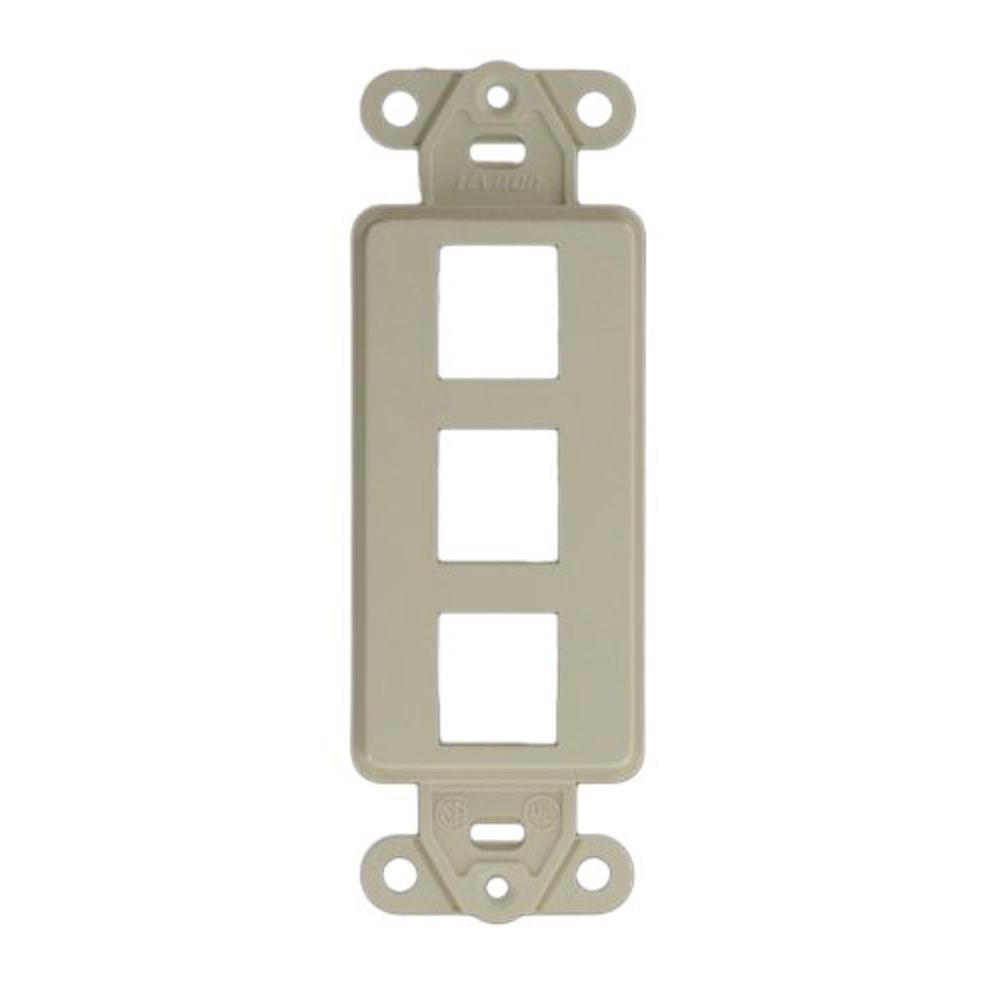 Leviton 41641-W 1 Port Decora QuickPort Insert ARRA Compliant White