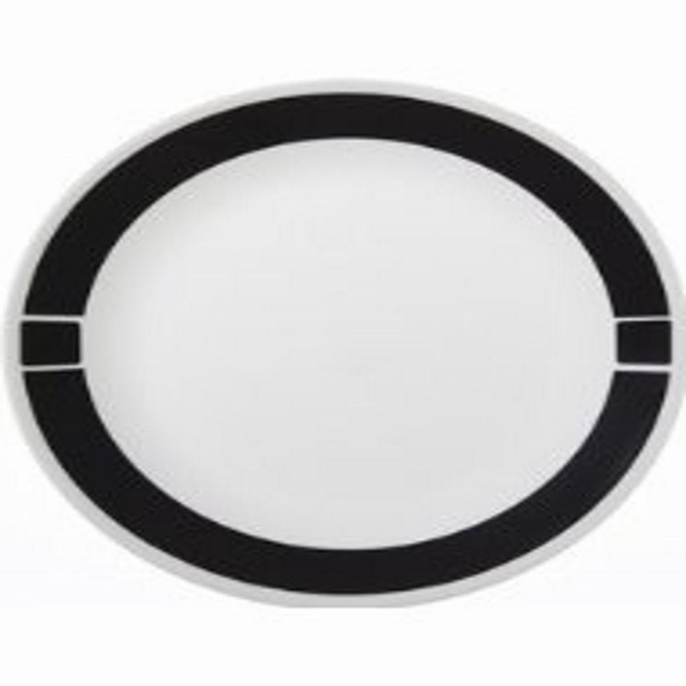 Livingware 10-1/4 in. Dinner Plate in Urban Black (Set of 6)