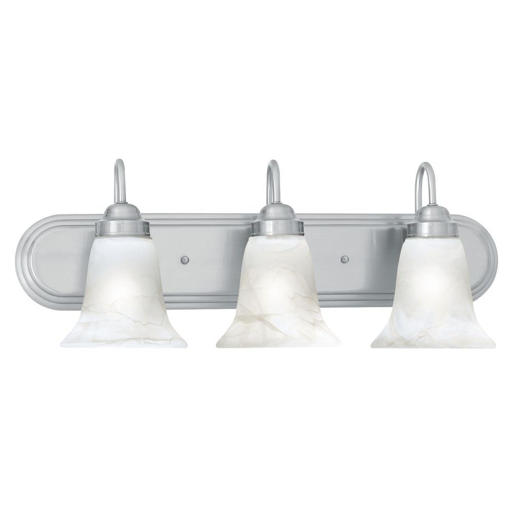 bathroom lighting fixtures brushed nickel lighting homestead 3 light brushed nickel wall 22183