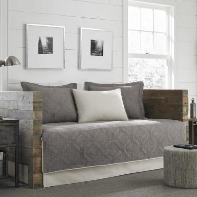Axis 5-Piece Grey Reversible Daybed Bedding Set