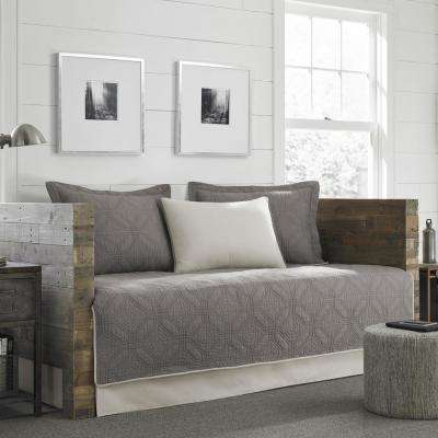 Axis 5-Piece Grey Twin Reversible Daybed Bedding Set