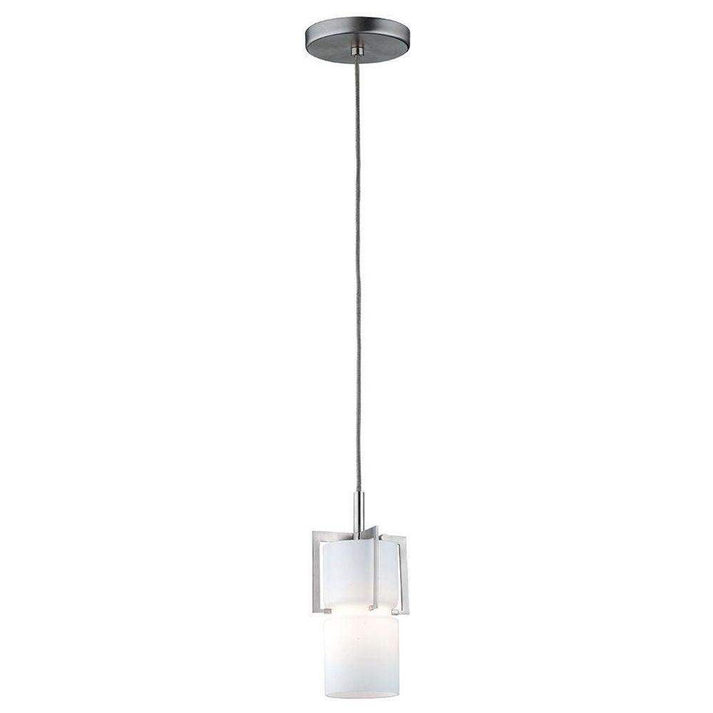 Philips Weston 1-Light Satin Nickel Hanging Pendant