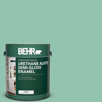 1 gal. #M420-4 Jade Mountain Urethane Alkyd Semi-Gloss Enamel Interior/Exterior Paint