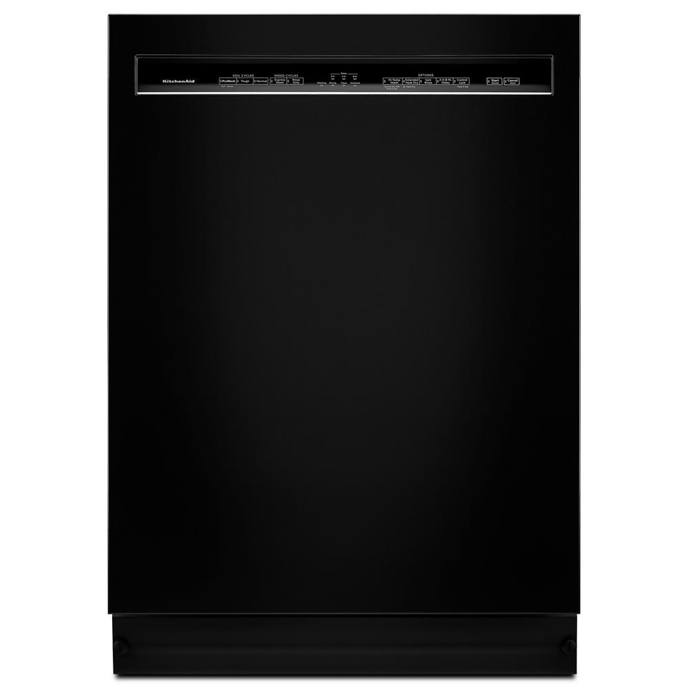 Front Control Built-in Tall Tub Dishwasher in Black with ProWash, 46