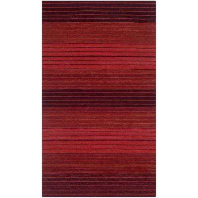 Marbella Red 2 ft. x 4 ft. Area Rug