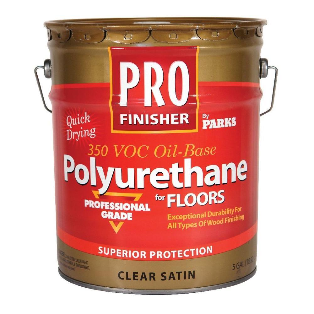 5-gal. Clear Satin 350 VOC Oil-Based Interior Polyurethane for Floors