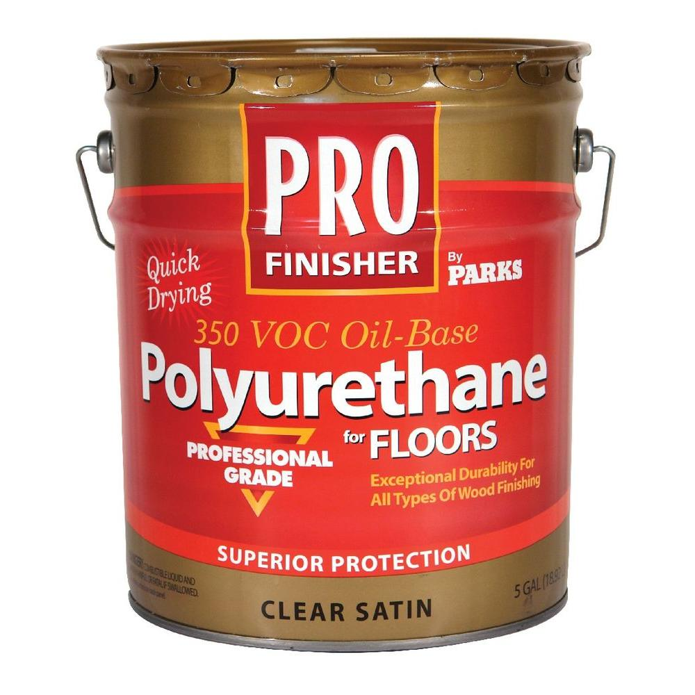 Pro Finisher 5 gal. Clear Satin 350 VOC Oil-Based Polyurethane for