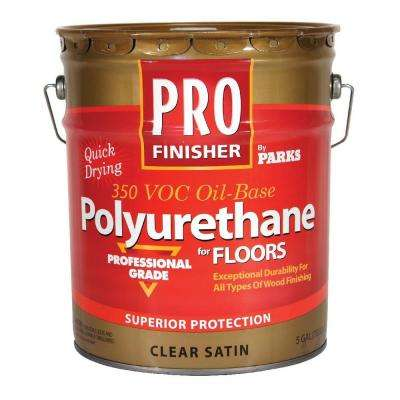 5-gal. Clear Satin 350 VOC Oil-Based Interior Polyurethane for Floors