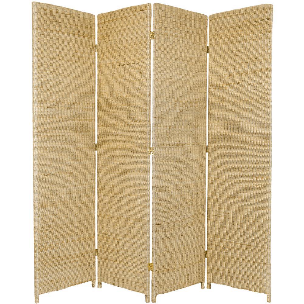 6 ft. Natural 4-Panel Room Divider