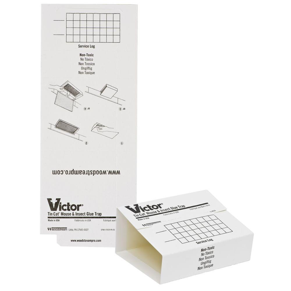 Victor Mouse and Insect Glue Trap for Tin Cat (72-Pack)