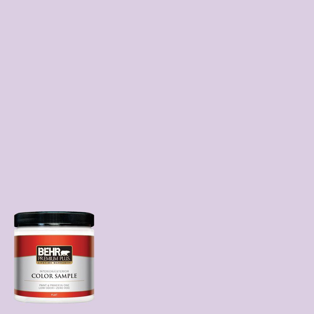 BEHR Premium Plus 8 oz. #660C-2 Violet Mist Interior/Exterior Paint Sample