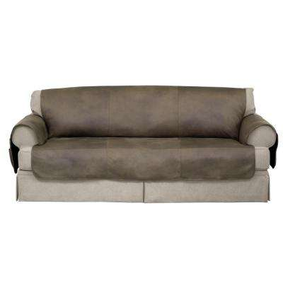 Fawn Faux Leather Furniture Protector treated with NeverWet Sofa