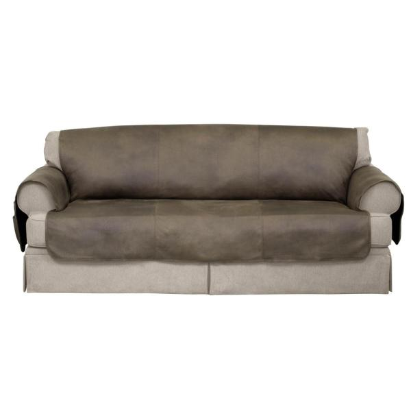 Serta Fawn Faux Leather Furniture Protector Treated With Neverwet Sofa