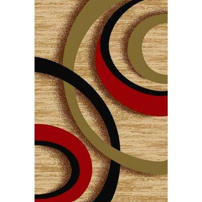 Ephes Collection Ivory 8 ft. 2 in. x 9 ft. 10 in. Area Rug