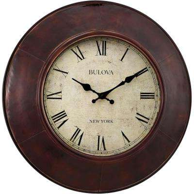 18 in. Metal Case Wall Clock