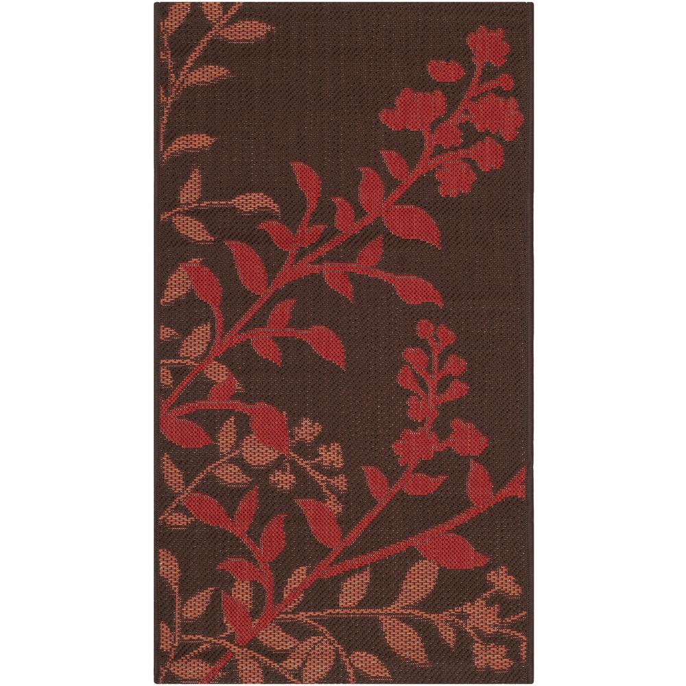 Courtyard Chocolate/Red 2 ft. 7 in. x 5 ft. Indoor/Outdoor Area