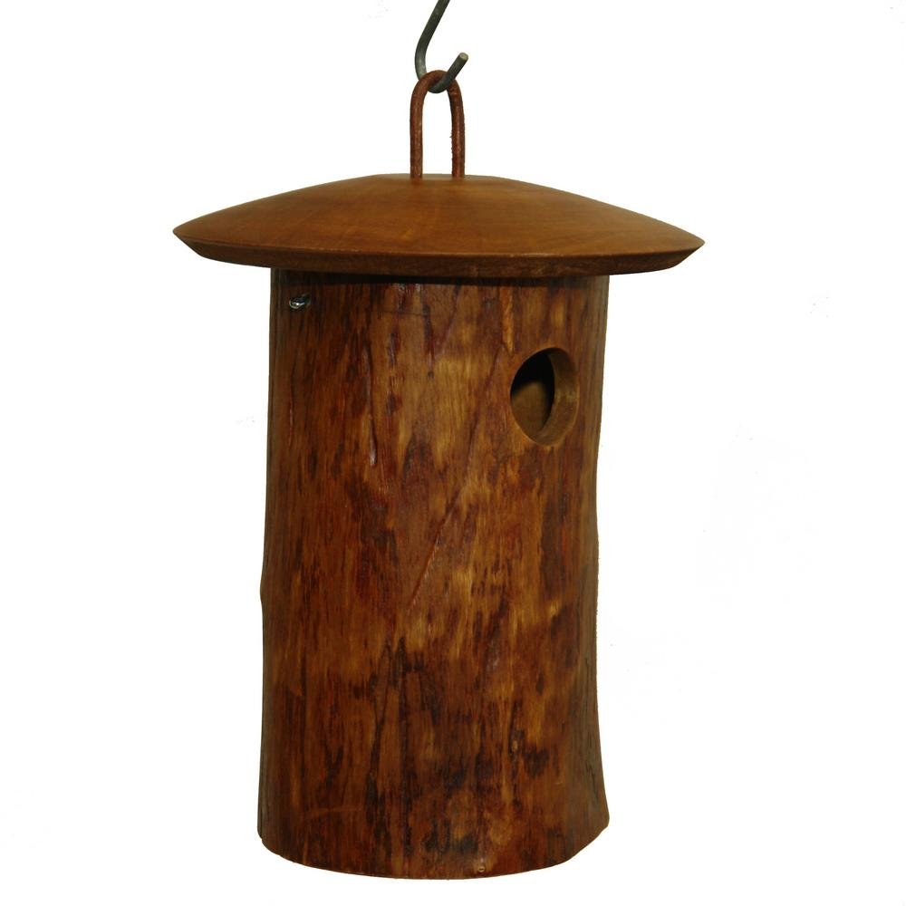 Byer of Maine 11 in. Mango Wood Natural Bluebird Bird House