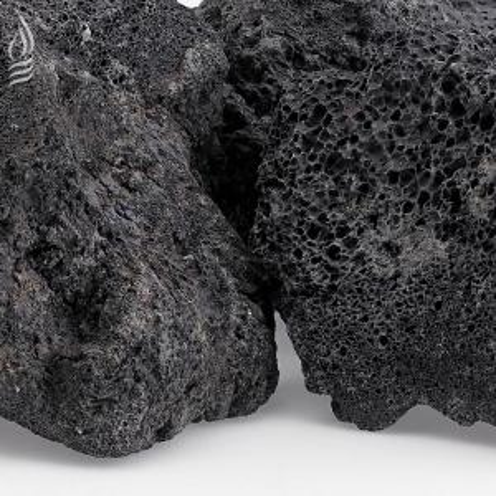 American Fire Glass Xxl Black Lava Rock 4 In 6 In 20 Lbs Bag