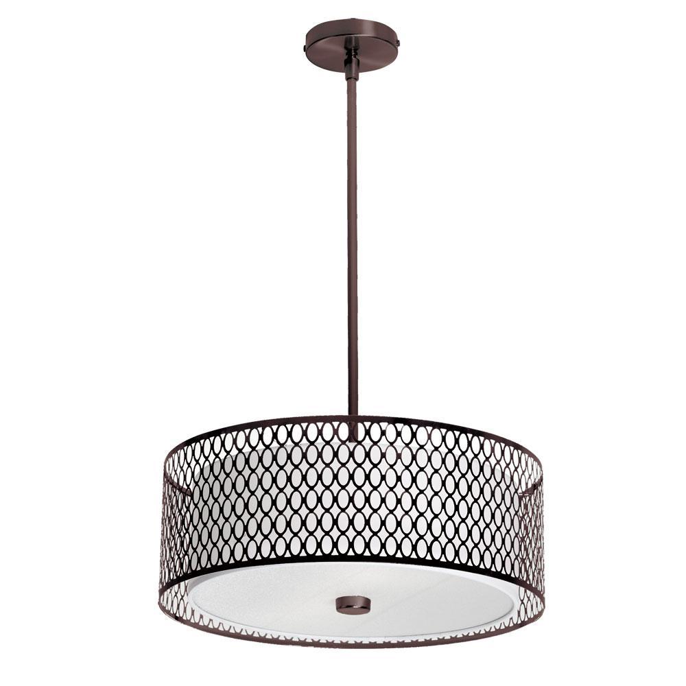 Filament Design 3-Light Vintage Oil-Brushed Bronze Pendant